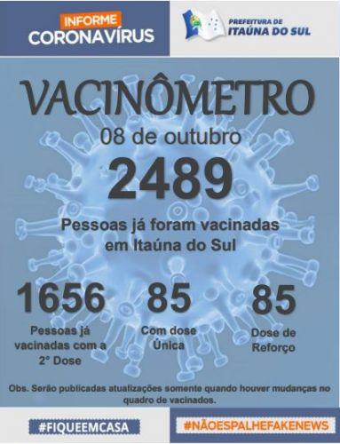 Boletim Oficial de Vacinação - Itaúna do Sul.
