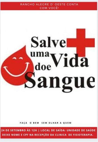 Doe sangue e salve vidas.