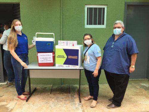 O Município de Rancho Alegre D′Oeste conclui 100% da vacina covid nos profissionais de saúde