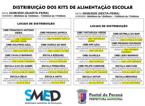Nova etapa de entrega dos kits de alimentação escolar em Pontal do Paraná é nesta semana