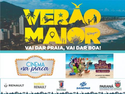 Cinema na Praia será atração nos balneários de Pontal do Paraná