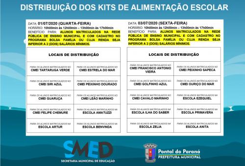 Pontal do Paraná realizará nova etapa da distribuição dos kits de alimentação escolar