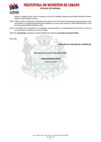 EDITAL DO CONCURSO PUBLICO 001/2020 -  CONFIRA AQUI O LOCAL E OS HORÁRIOS DAS PROVAS !