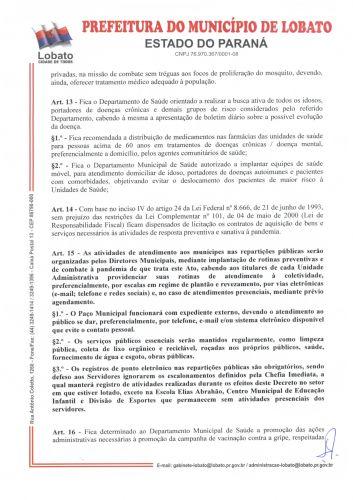 DECRETO N 700-2020, DE 02 DE DEZEMBRO DE 2020