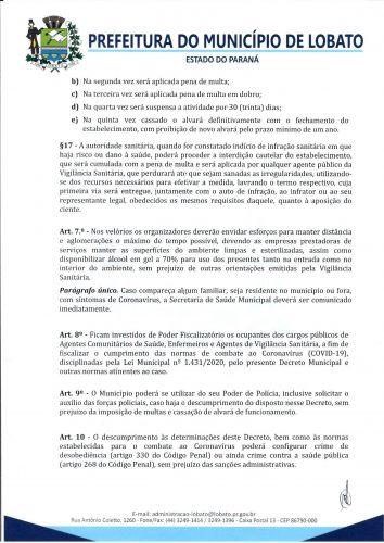 DECRETO 864-2021, DE 18 DE JUNHO DE 2021 NOVAS MEDIDAS COVID-19