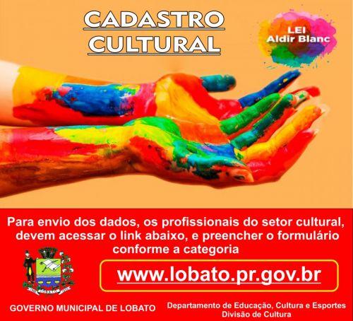 Departamento de Educação, Cultura e Esportes - Divisão de Cultura da Prefeitura de Lobato lança cadastramento de artistas, coletivos e empresas culturais locais