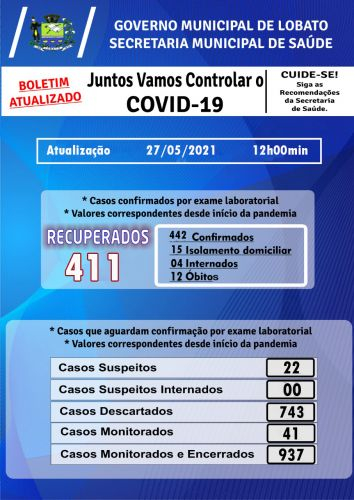 Boletim COvid-19 27/05/2021