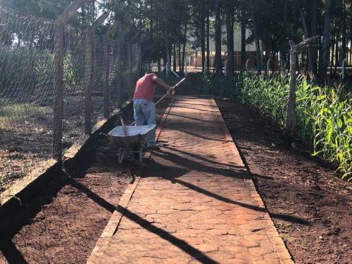 Limpeza e manutenção no distrito de Primavera