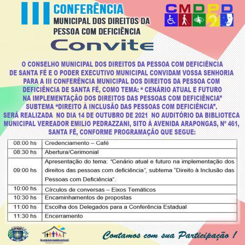 3ª Conferência Municipal das Pessoas com Deficiência