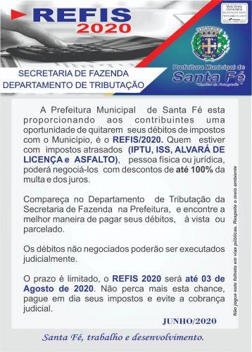 REFIS 2020 - Não perca a oportunidade de negociar e quitar seus débitos