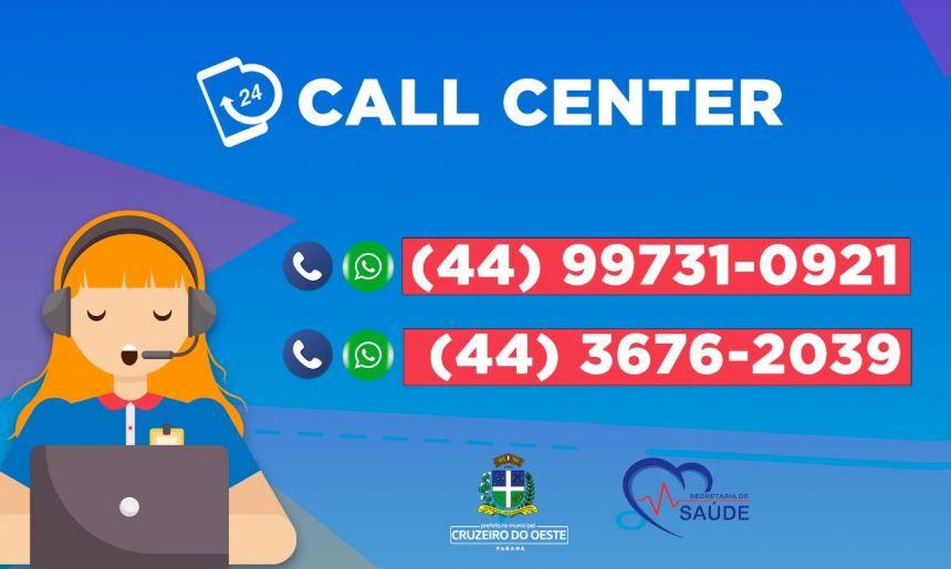 Call Center altera números de telefone para atendimento 24h da COVID-19