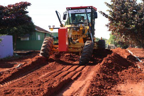 Obras em andamento na Rua Rui Barbosa