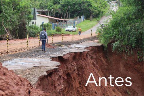 Obras de pavimentação e acesso ao Frigoastra estão concluídas.