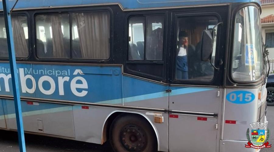 Mamborê retorna o transporte escolar, seguindo protocolo de prevenção