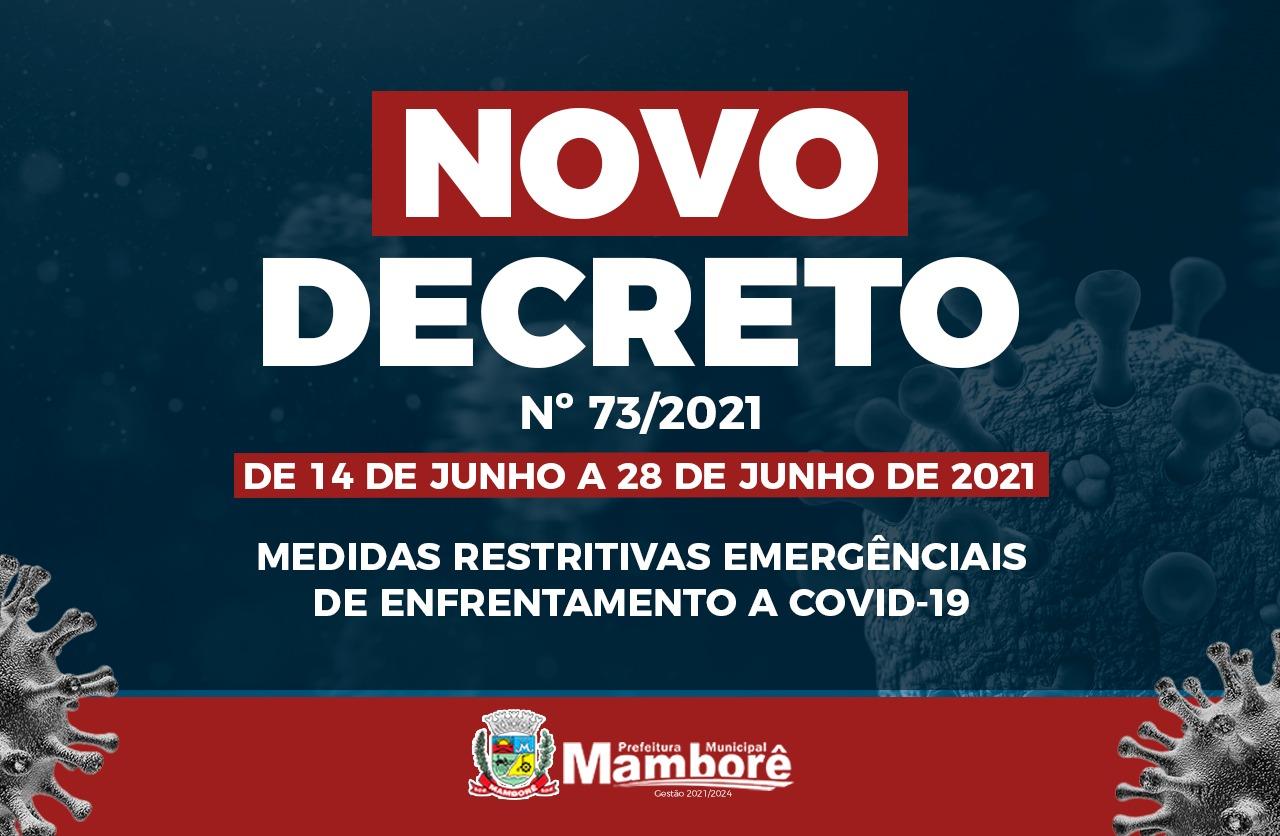 Em Mamborê novo decreto é publicado em enfrentamento a Covid-19