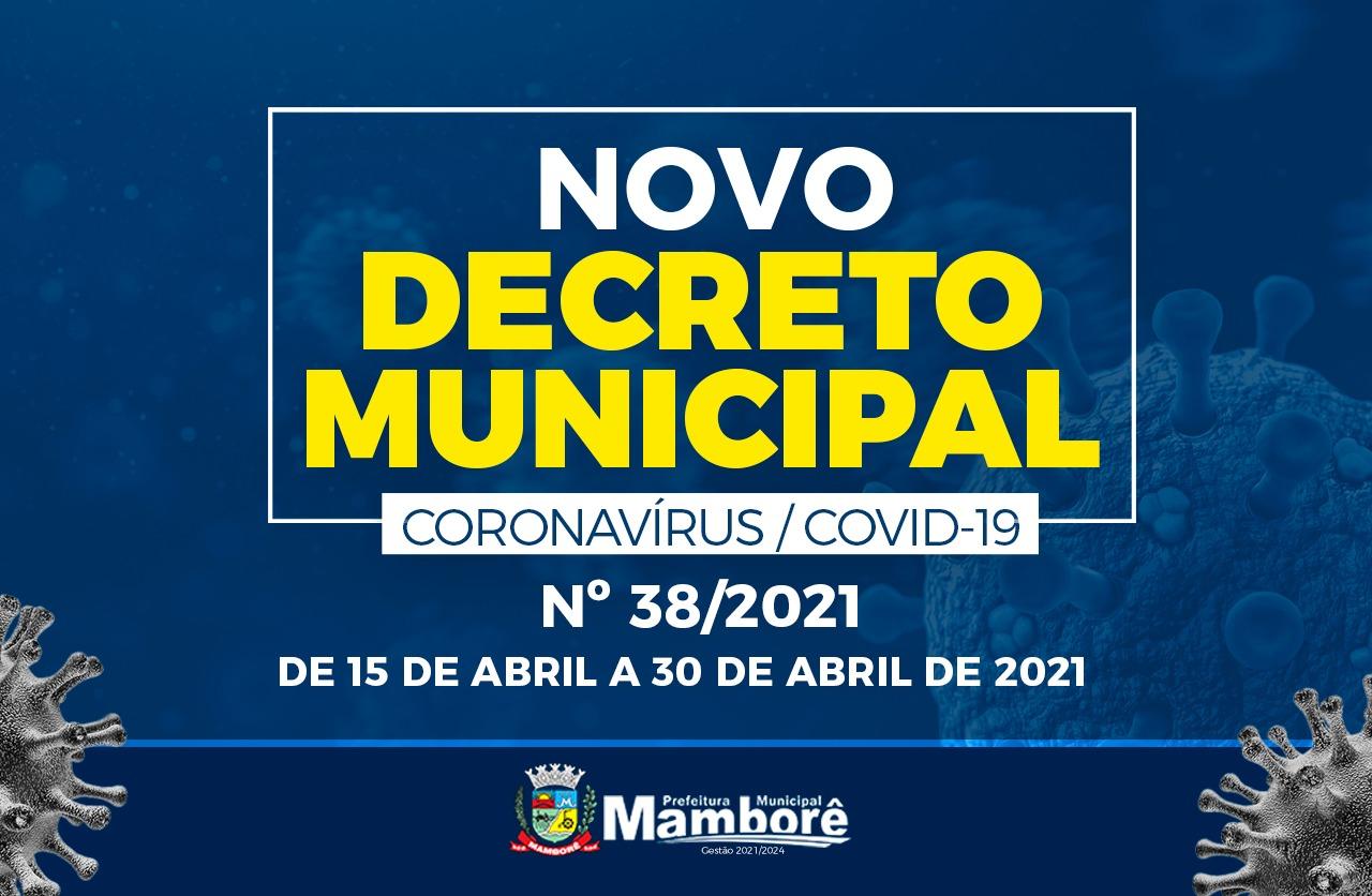 Mamborê publica novo decreto em enfrentamento a Covid-19