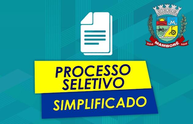 Prefeitura de Mamborê abre Processo Seletivo Simplificado para contratação por tempo determinado