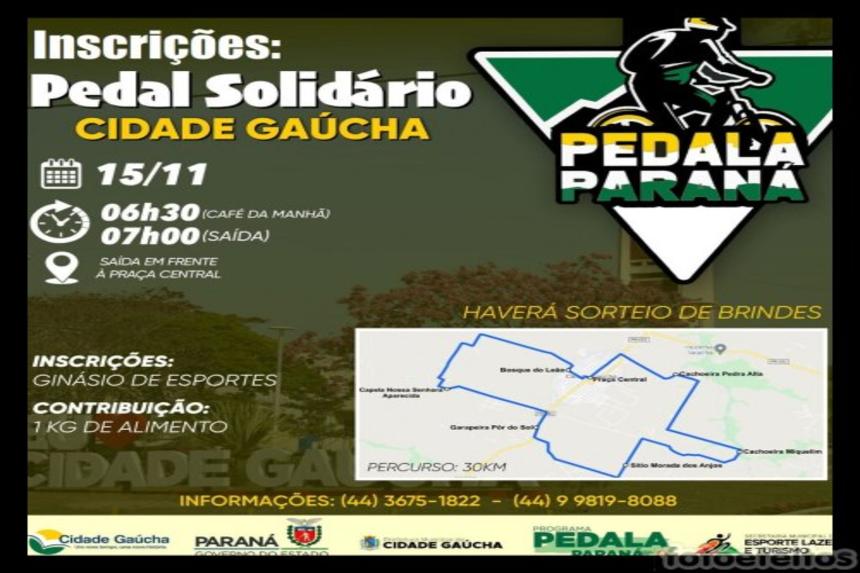Inscrição para o Pedal solidário