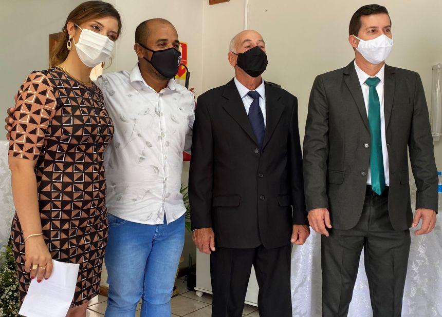 PREFEITO REGINALDO VILELA, VICE ANTÔNIO BAGATIM E VEREADORES TOMAM POSSE EM JOAQUIM TÁVORA