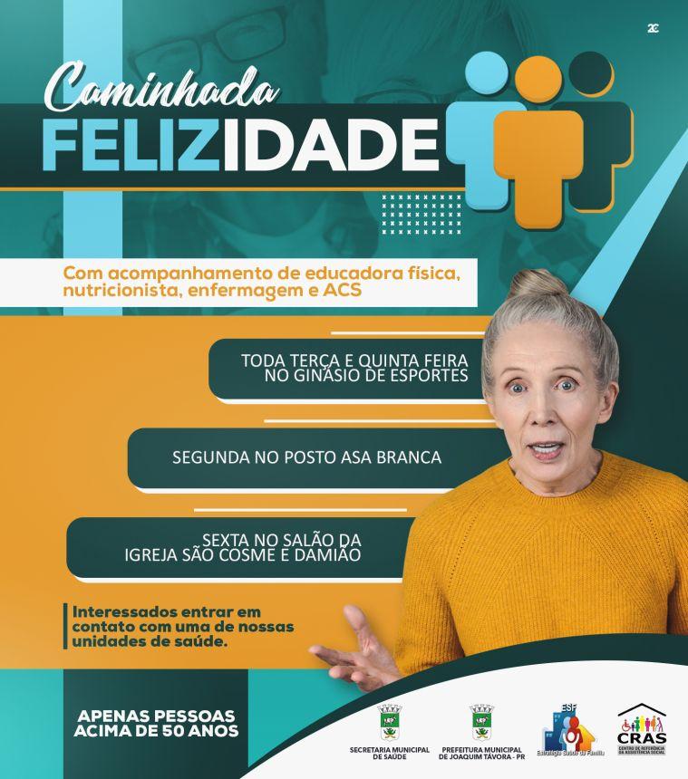 PROGRAMA CAMINHADA FELIZ IDADE RETOMA ATIVIDADES NO MÊS DE SETEMBRO