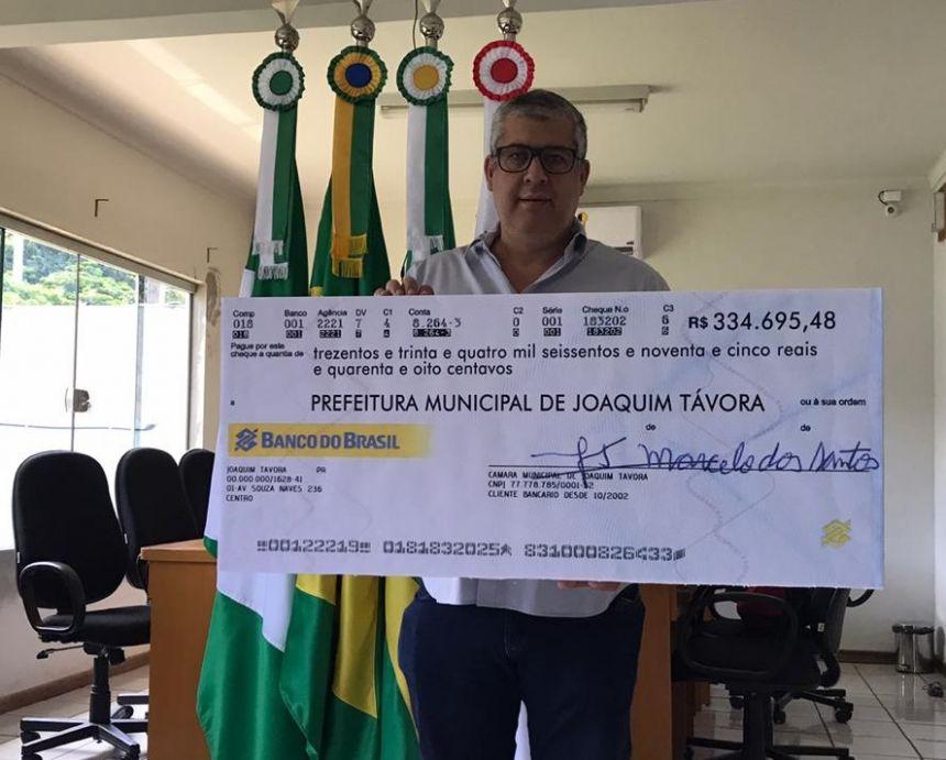 CÂMARA MUNICIPAL DEVOLVE MAIS DE R$ 500 MIL PARA PREFEITURA DE JOAQUIM TÁVORA