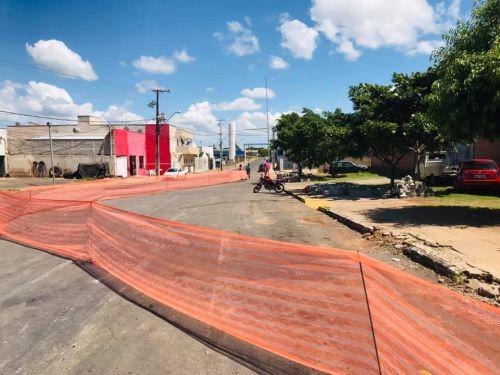 Execução de Rotatória na Avenida Getúlio Vargas