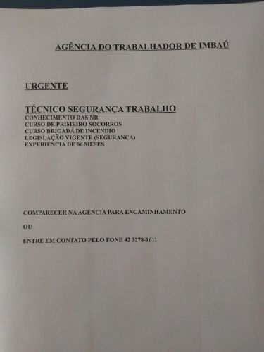 VAGAS DE EMPREGO (15/06/2021)