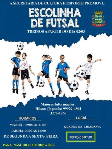 Escolinha de Futsal.