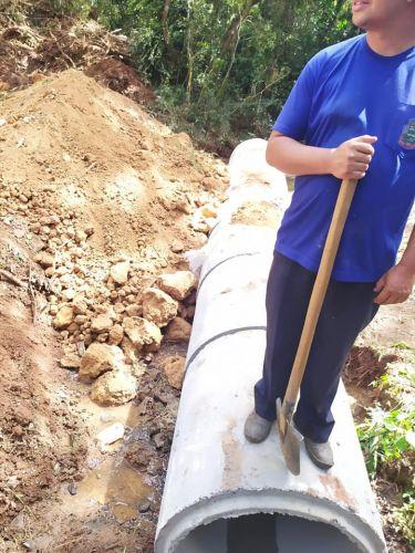 Obra de Drenagem Pluvial no Bairro Antunes, Charqueada de Baixo.