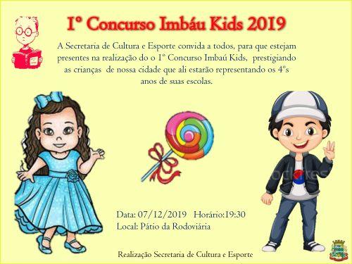 1º concurso kids imbaú 2019