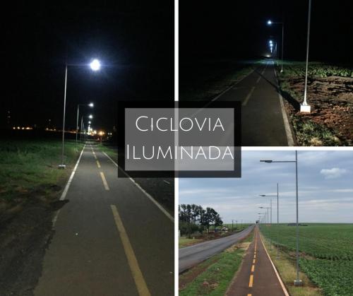 Iluminação da ciclovia