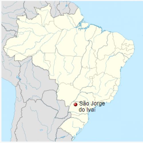Localização de São Jorge do Ivaí no Brasil