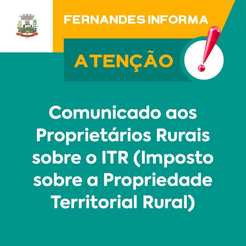 ITR - Imposto sobre a Propriedade Territorial Rural