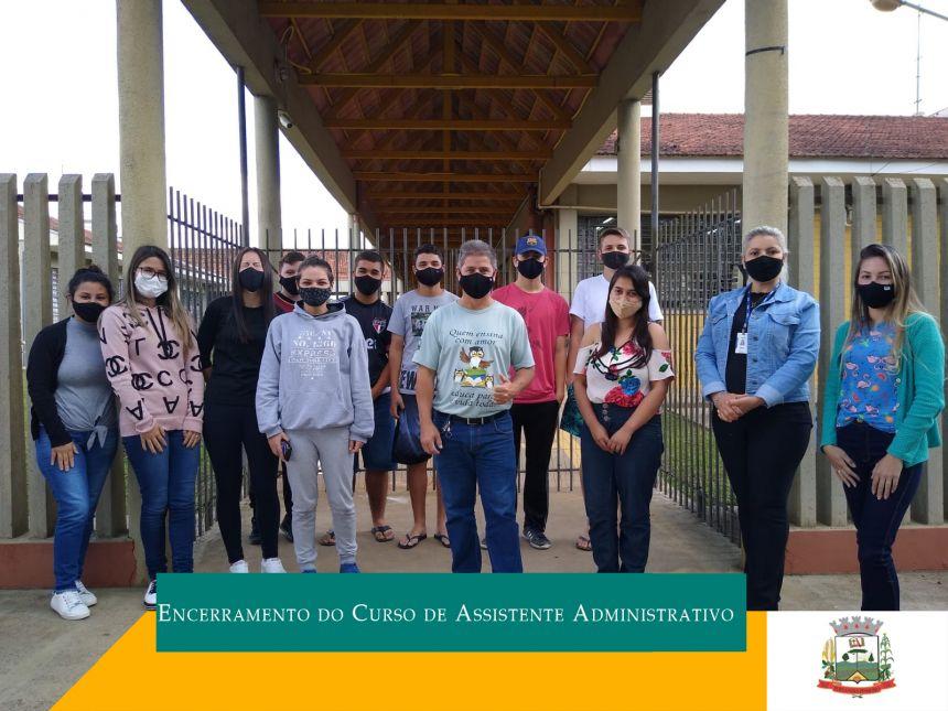 Encerramento do curso de Assistente Administrativo do Senac em parceria com a Prefeitura Municipal de Fernandes Pinheiro/Secretaria Municipal de Educação