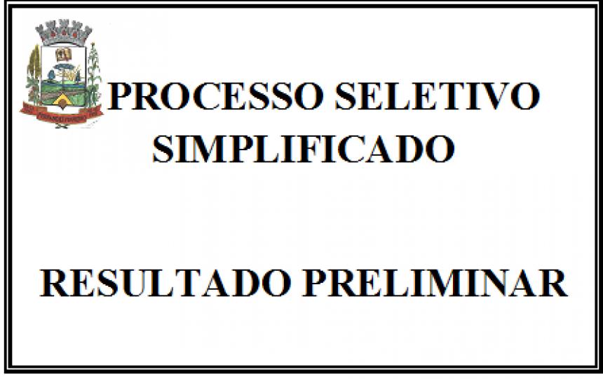 PROCESSO SELETIVO SIMPLIFICADO FERNANDES PINHEIRO- RESULTADO PRELIMINAR