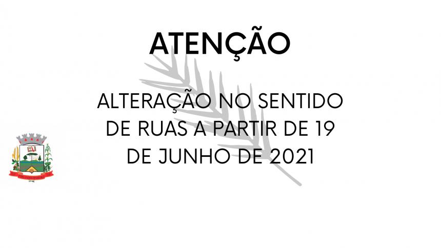 DECRETO Nº 116/2021 DISPÕE SOBRE A ALTERAÇÃO DE TRECHOS VIÁRIOS E DÁ DEMAIS PROVIDÊNCIAS.