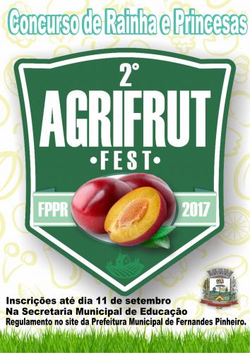 Concurso de Rainha e Princesas da II AGRIFRUT.