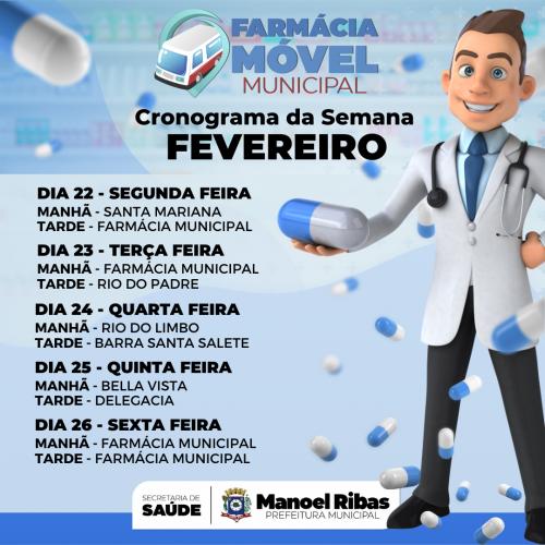 CRONOGRAMA DE ATENDIMENTO DA FÁRMACIA MÓVEL