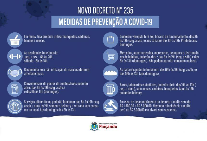 NOVO DECRETO 235/2020