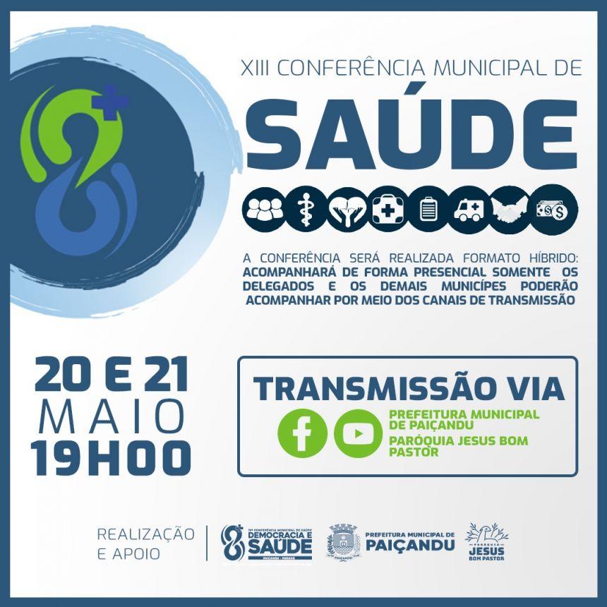 XIII CONFERÊNCIA MUNICIPAL DE SAÚDE