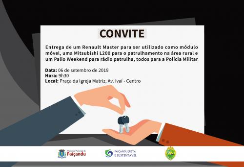 Convite | Entrega de veículos para a Polícia Militar