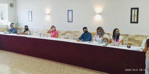5 REUNIAO ORDINARIA CMDCA 2020 - CONSELHEIROS (ESQUERDA): CASSIANA, IZABELA, NAILSON, INGRIDY E ANDRESSA