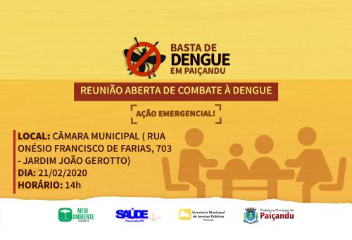 Convite | Reunião aberta de combate à dengue