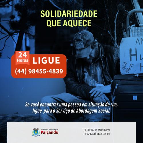 Solidariedade que aquece - Serviço Especializado em Abordagem Social