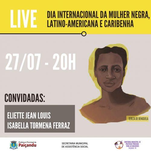 Live - Dia Internacional da mulher negra, latino-americana e caribenha