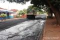Continuação do recapeamento asfáltico em Água Boa