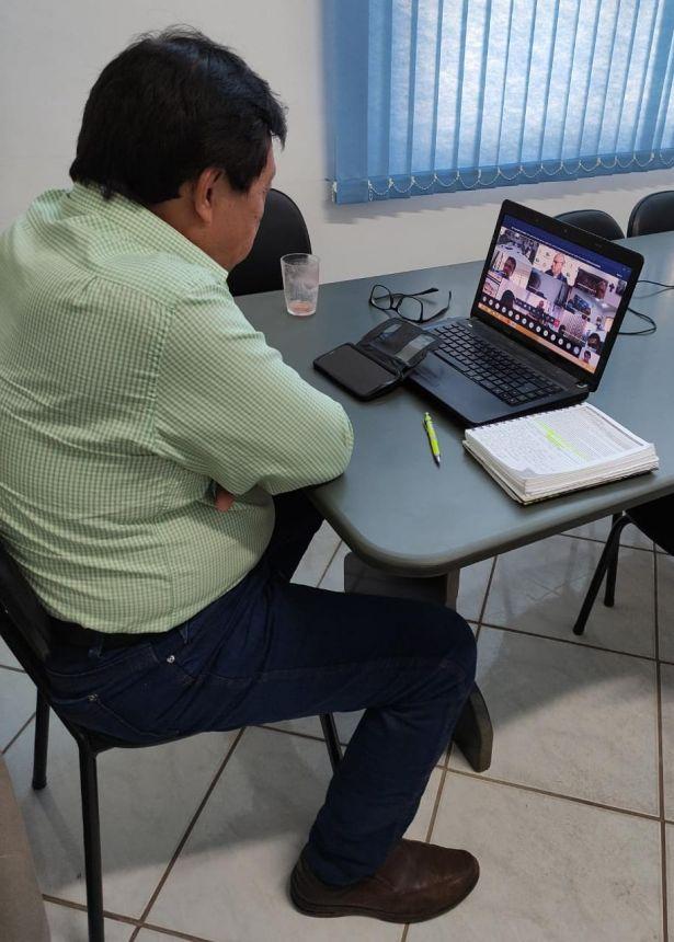 PREFEITO KURODA PARTICIPA DE VIDEOCONFERÊNCIA COM PREFEITOS DA AMUVI REALIZADA PELA SEDU / PARANACIDADE