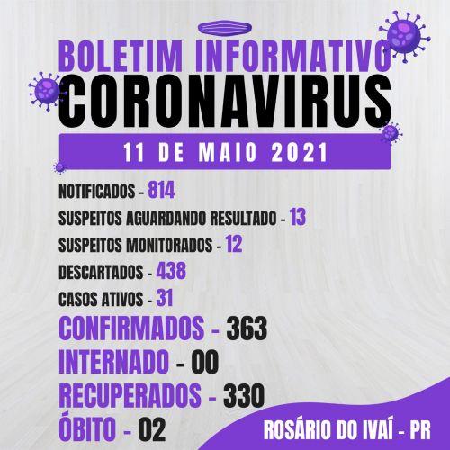 Boletim Informativo 11 de maio de 2021.