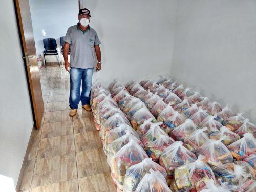 CRAS recebe 109 cestas básicas para doação em Faxinal
