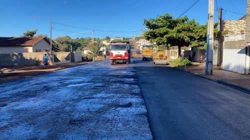 Prefeitura conclui recapeamento de trecho da rua Eugênio Bastiani